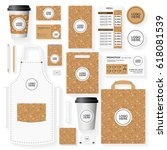 corporate identity template set ... | Shutterstock .eps vector #618081539