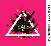 abstract explosion sale banner...   Shutterstock .eps vector #618085055