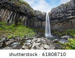stunning svartifoss waterfall ...