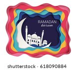 ramadan kareem background.... | Shutterstock .eps vector #618090884