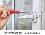 installation of window... | Shutterstock . vector #618100379