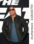 new york apr 8  actor dwayne... | Shutterstock . vector #618103754
