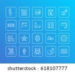 scuba diving  snorkeling line... | Shutterstock .eps vector #618107777