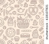 bakery seamless pattern  food... | Shutterstock .eps vector #618107831