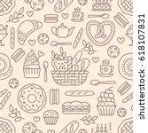 bakery seamless pattern  food... | Shutterstock .eps vector #618107831