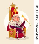 happy smiling king man... | Shutterstock .eps vector #618111131