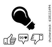 bulb icon stock vector...   Shutterstock .eps vector #618111494