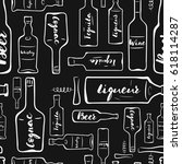 bar bottle seamless pattern | Shutterstock .eps vector #618114287