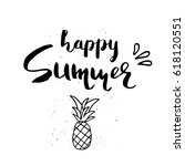 beautiful summer poster with... | Shutterstock .eps vector #618120551