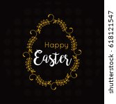 colorful happy easter greeting... | Shutterstock .eps vector #618121547