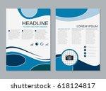 modern business two sided flyer ... | Shutterstock .eps vector #618124817