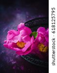 pink peony   Shutterstock . vector #618125795