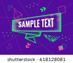 abstract futuristic geometric... | Shutterstock .eps vector #618128081