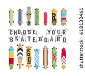 set vector skateboard and... | Shutterstock .eps vector #618132461