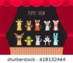 childrens performance in the... | Shutterstock .eps vector #618132464