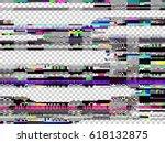 glitch texture. computer screen ... | Shutterstock .eps vector #618132875