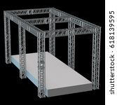 steel truss girder rooftop... | Shutterstock . vector #618139595