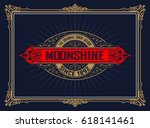 vintage whiskey label | Shutterstock .eps vector #618141461