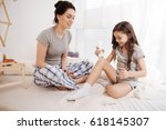 involved mother and kid testing ... | Shutterstock . vector #618145307