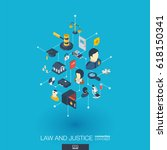 law  justice integrated 3d web... | Shutterstock .eps vector #618150341