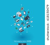technology integrated 3d web... | Shutterstock .eps vector #618150479