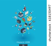finance integrated 3d web icons.... | Shutterstock .eps vector #618150497