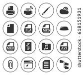 set of 16 document filled icons ... | Shutterstock .eps vector #618151931