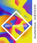 colorful poster with abstract... | Shutterstock .eps vector #618152141