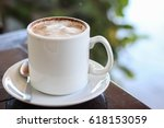 take a break with hot chocolate ...   Shutterstock . vector #618153059