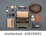 journalist or private detective ... | Shutterstock . vector #618154031