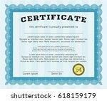 Light Blue Classic Certificate...