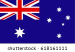 flag of australia | Shutterstock .eps vector #618161111