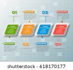 vector abstract 3d paper... | Shutterstock .eps vector #618170177