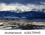 snpwy morning in ogden valley ... | Shutterstock . vector #618170945