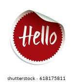 red vector sticker with text... | Shutterstock .eps vector #618175811