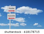 possible impossible sign | Shutterstock . vector #618178715