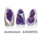 Set Of Amethyst Crystal...