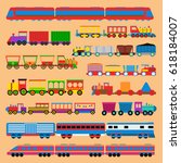 toy train vector illustration.   Shutterstock .eps vector #618184007