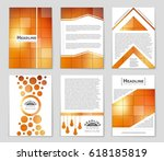 abstract vector layout... | Shutterstock .eps vector #618185819