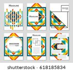 abstract vector layout... | Shutterstock .eps vector #618185834