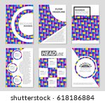 abstract vector layout... | Shutterstock .eps vector #618186884