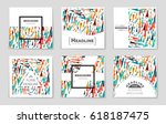 abstract vector layout... | Shutterstock .eps vector #618187475