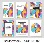 abstract vector layout... | Shutterstock .eps vector #618188189