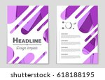 abstract vector layout... | Shutterstock .eps vector #618188195