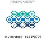 healthcare mechanism concept....   Shutterstock .eps vector #618190709