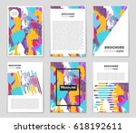 abstract vector layout... | Shutterstock .eps vector #618192611