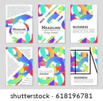 abstract vector layout... | Shutterstock .eps vector #618196781