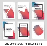 abstract vector layout... | Shutterstock .eps vector #618198341