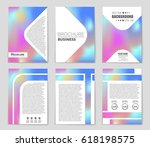 abstract vector layout... | Shutterstock .eps vector #618198575