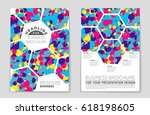 abstract vector layout... | Shutterstock .eps vector #618198605